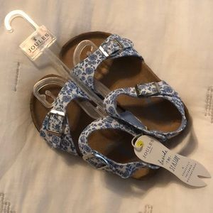 NWT Joules Tippy-toes Toddler Girls Sandals